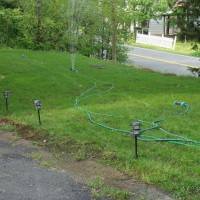 Peninsula Lawn During Watering