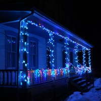 The LED Christmas Lights Have Been Put Up