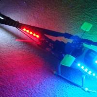 Mini-Titan e325 Night Flying LED Setup Progress